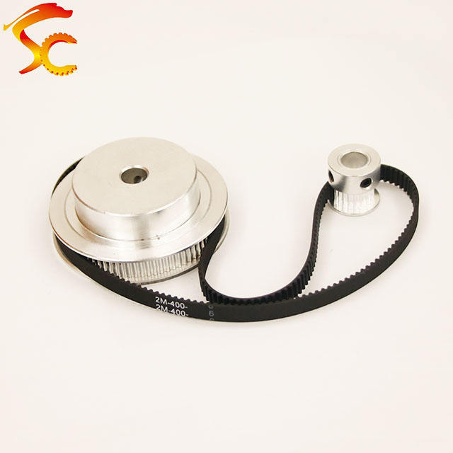 400-GT2-6mm,Timing Belt Pulley GT2 80 teeth 20 tooth Reduction 3D printer accessories belt width 6mm,Bore 8&5mm