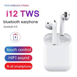 Custom OEM ODM i12 i12s twins tws 5.0 earphone Bilateral Stereo Mini Bluetooth true wireless earbuds with popup and real battery