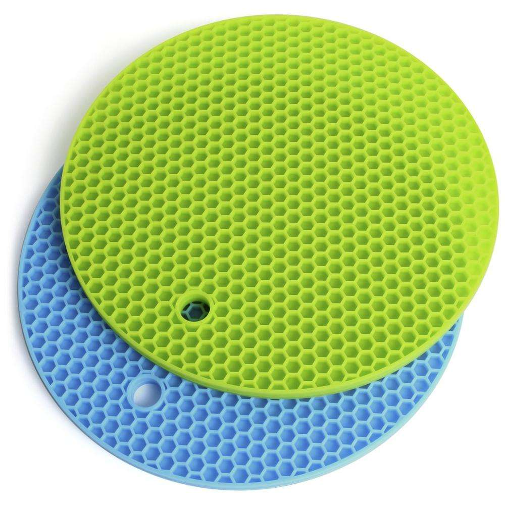 Factory Direct Selling Multipurpose Silicone Round Drying Mat, Silicone Pot Holders Non Slip Heat Resistant Hot Pads