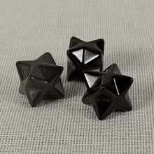 wholesale natural black obsidian merkaba star for sale