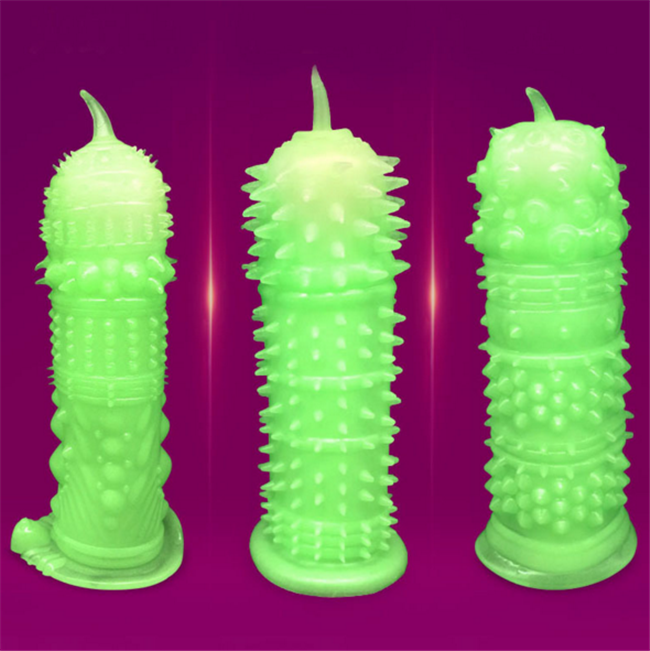 New Luminous Penis Sleeve Stimulieren Sex produkte <span class=keywords><strong>Kondom</strong></span>