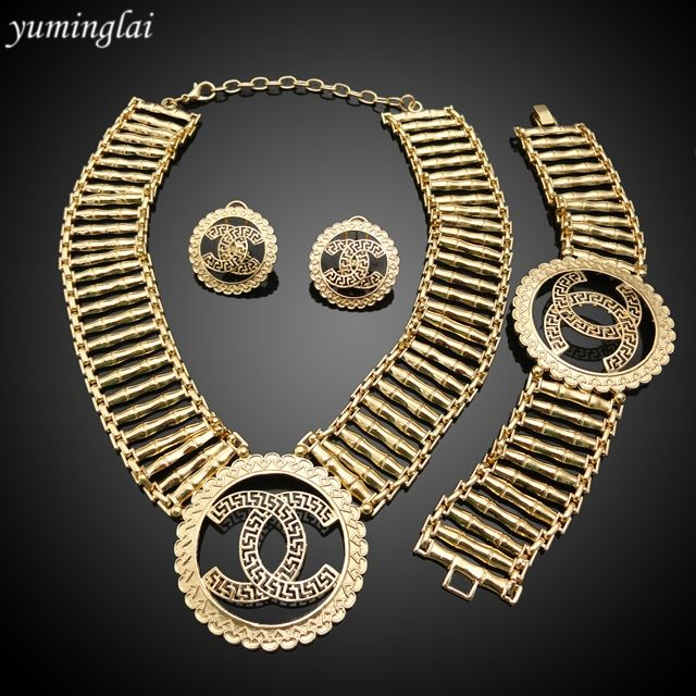 New Arrival 4pcs/set gold plated jewelry set,Wedding jewelry set ,party jewelry set GHK165