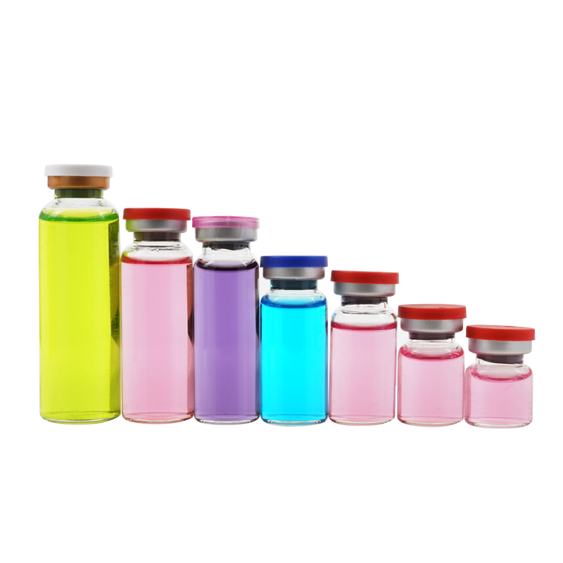 wholesale clear and amber 4ml to 30ml empty sterile medicine pharmecutical glass vials bottle with 20mm flip top off cap
