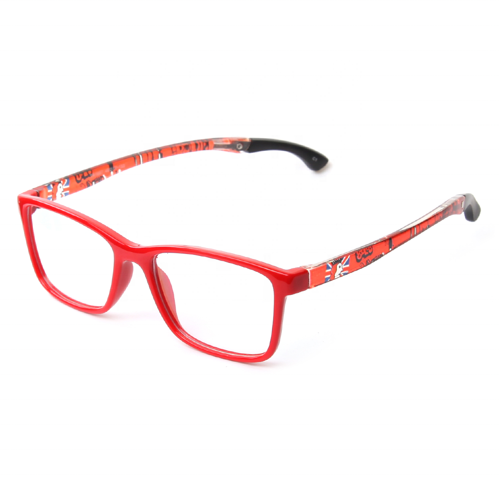 Children'S Spectacles Cheap Cartoon Printed Red Color Beautiful Kid Tr90 Optical Frames