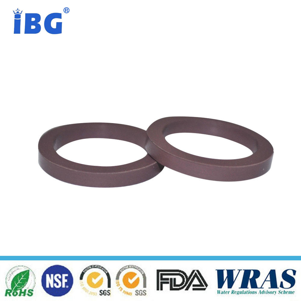 Rubber o ring white PTFE flat round gasket