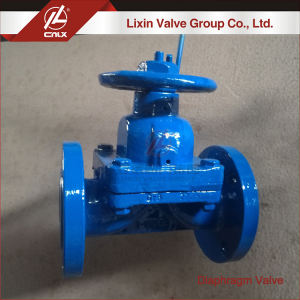 Factory supply manual corrosive medium rubber sealing cast iron diaphragm valve