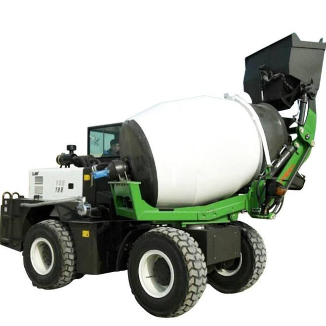 self loading mobile concrete mixe/rconcrete mixer pump/concrete mixer with pump