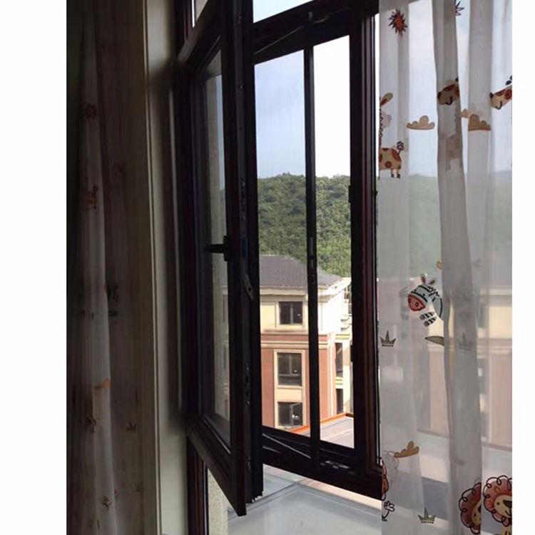 Ventas calientes bajo precio utilizado ventanas abatibles de aluminio