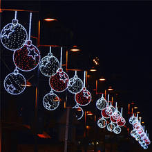 2019 Newest high quality holiday 3d cone tree garland Christmas Decorative Outdoor Pole Street Motif Lights
