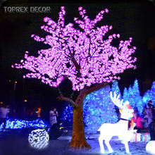 Outdoor decoration event garden landscaping led light up cherry blossom artificial tree