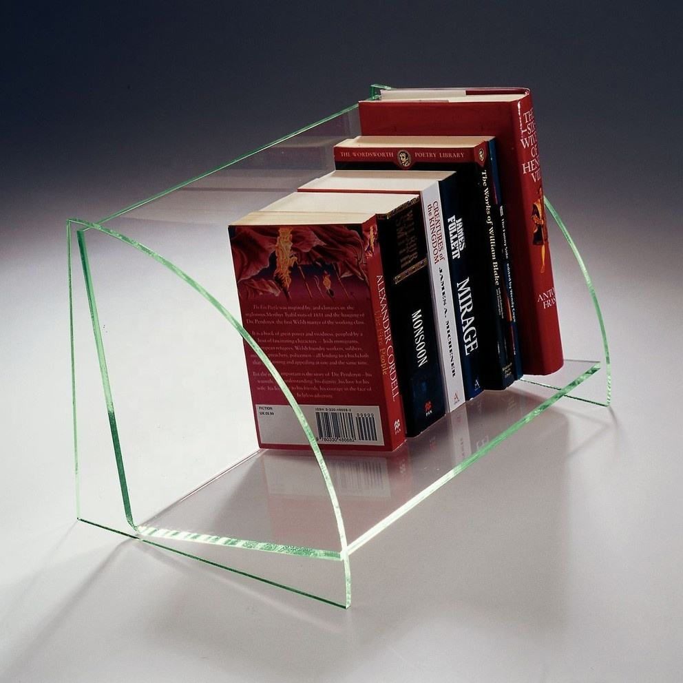 Tabletop Acrylic Tinted Book Stands Magazine Holder Plexiglass Display Rack Stands for Books Magazine