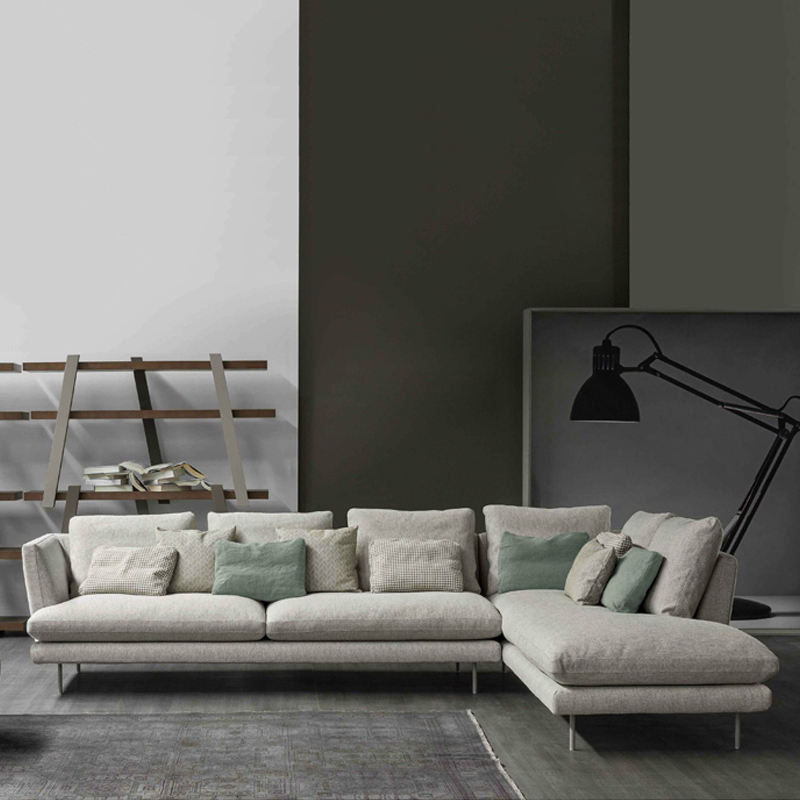 Living Room Sectional Modern Home Fabric Sofa