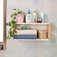 Bamboo Wooden 2 Levels Wall Shelves for Bathroom or Kitchen