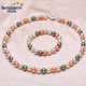 12mm hot selling red color sea shell pearl imitation pearl jewelry set