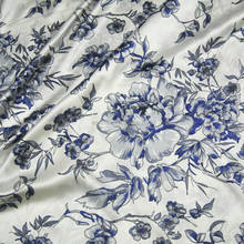 stock 16m/m chinese style Printed mulberry silk fabric for silk dress wholesale