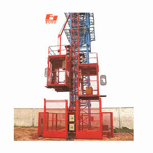 SC200 The automatic lift is safe and convenient for carrying people to carry heavy loads and operate simple construction cranes