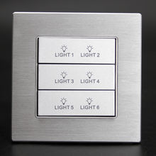 Custom design 6 gang home electrical wall switch plates