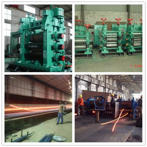 Low cost 1-5t/h small capacity 8-32mm steel rebar wire rod thread rebar deformed bar angle production line rolling mill machine