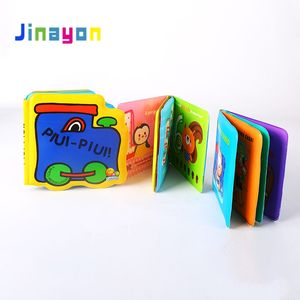 Jinayon New Custom Children Bath Story Book for Kids Education Plastic Material Printing Book with Eva Waterproof