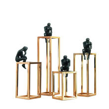 Black Resin Statues Ornaments Home Decoration Pieces Luxury Accessories Modern