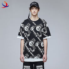 Street Wear Fashion T Shirt Custom Designs All Over Print T Shirt Men