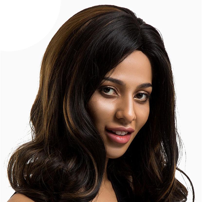 Inteley gemischte farbe lange haar <span class=keywords><strong>kanekalon</strong></span> damen synthetische perücke