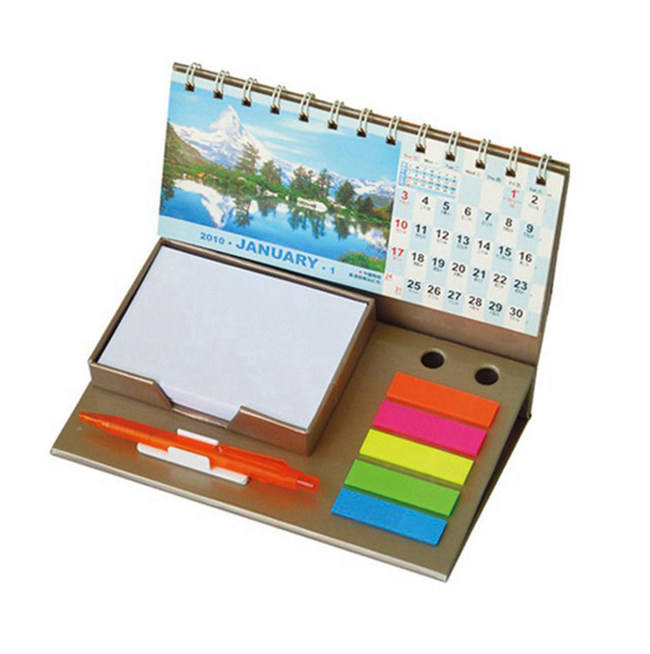 Oem Desk Pad Daily Desktop Calendar , Calendar With Sticky Notes