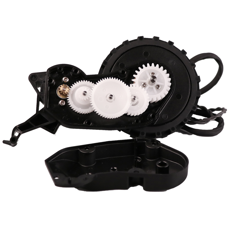 Beautiful design reduction ratio 24v dc worm gear motor plastic robot gearbox