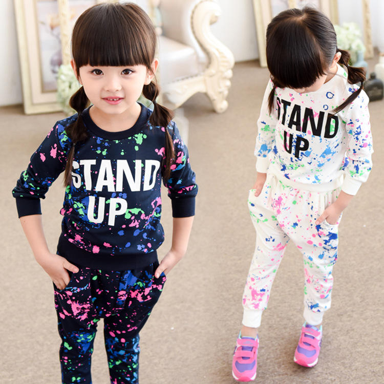 Taobao Kids Girls Sport Sets Clothes Boutique Girl Clothing Fall Sets