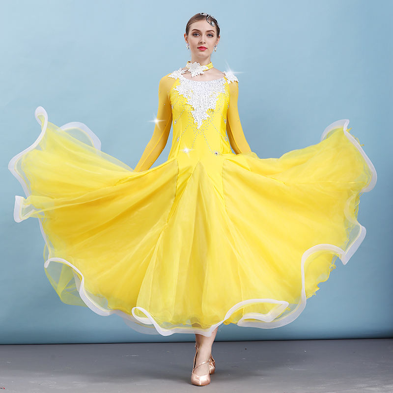 Ballroom Dance Competition Dresses Women Professional Standard Dancing Dress Lady Waltz Spanish Flamenco Performance Wear DN3298