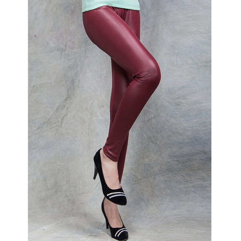 Clearance sale in stock women femme leather legging