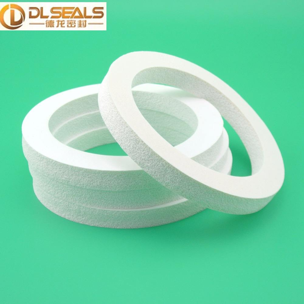 DLSEALS customized silicone rubber foam seal gasket/silicone foam gasket