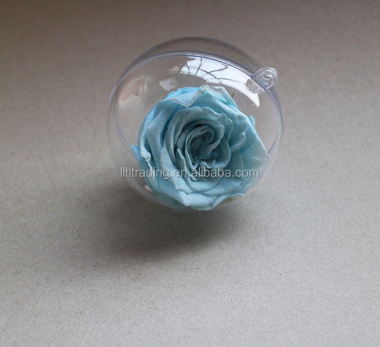 Clear round acrylic ball holder for flower Christmas decoration hollow acrylic ball for tree gift small high gloss acrylic ball