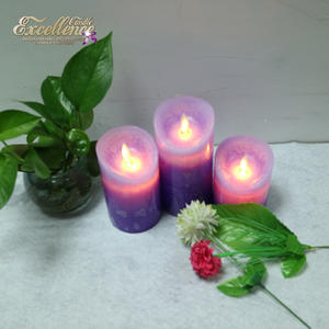 Battery Powered LED Pillar Wax RechargeableFix Flameless Wax LED Candle
