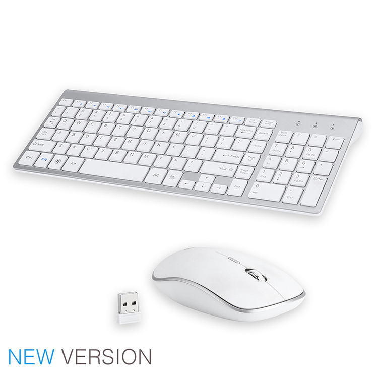 Mouse <span class=keywords><strong>Keyboard</strong></span> Nirkabel Super Ramping 2.4GHz, Tata Letak Kombo IT DE RU ES