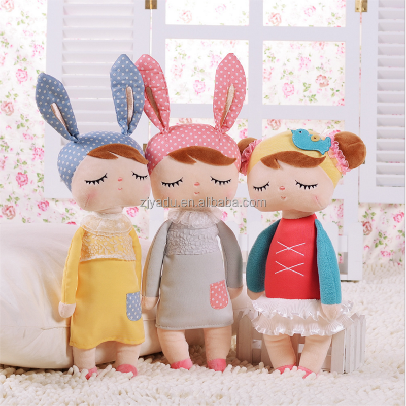 Wholesale High Quality cute plush toys/beautiful plush rag doll /OEM METOO Angela doll