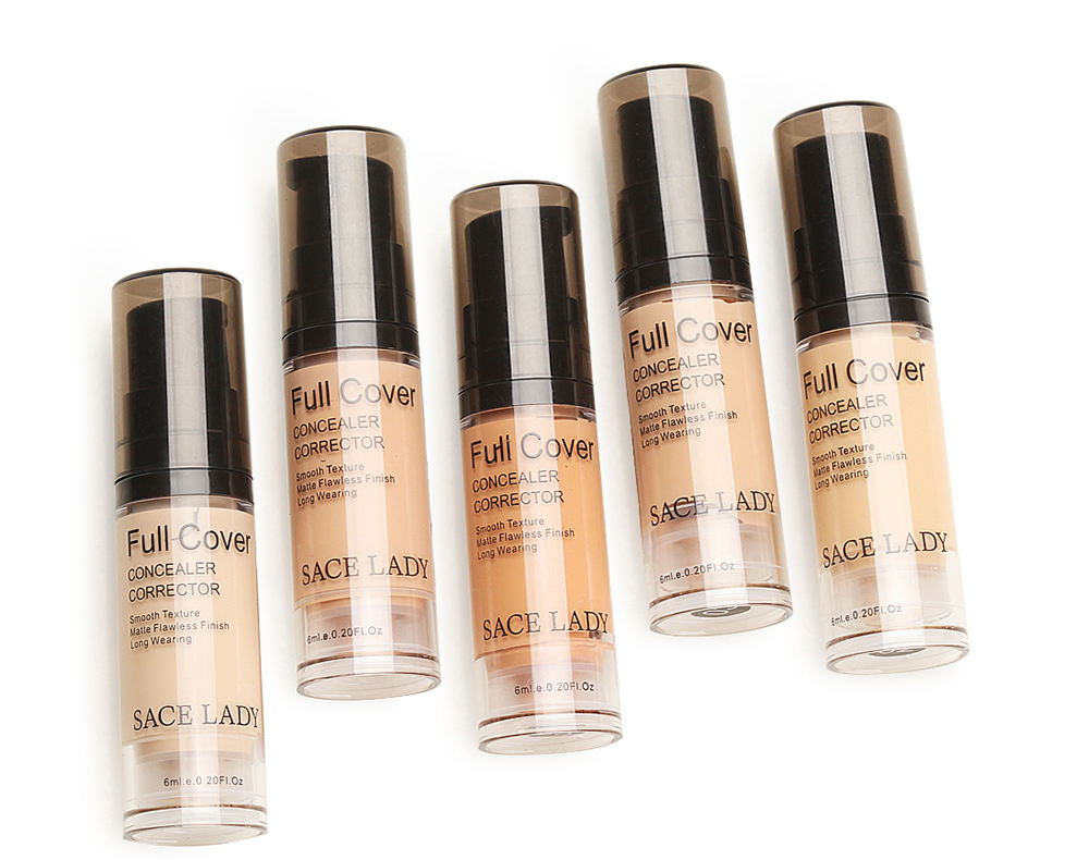 Matt Finish Full Cover Concealer, Long Wearing Liquid Corrector Makes Smooth Texture
