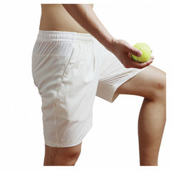 Direct Factory quick dry sports wicking fabrics Wholesale tennis Apparel White Badminton men Tennis Shorts With Custom Logo