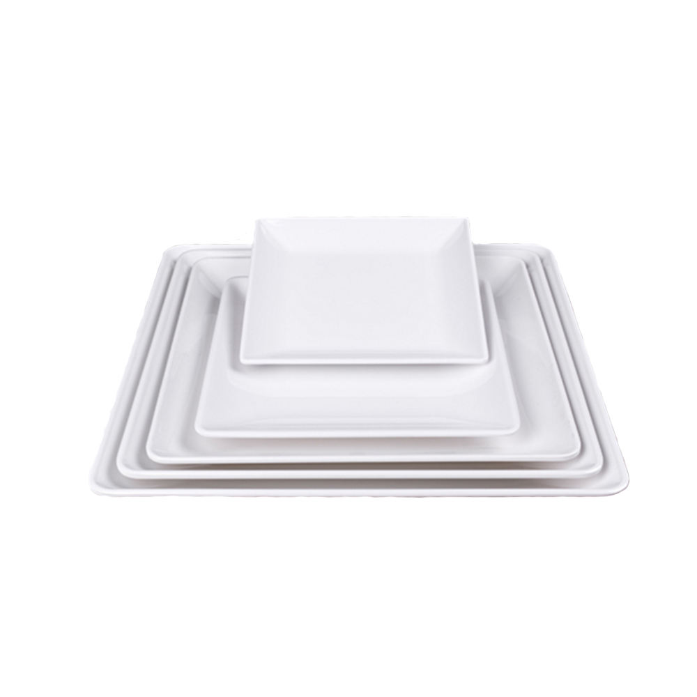 FPJJ3030 High Humidity Stability Thailand Square Dinnerware White Hotel 5pcs Dinnerware Dish Set