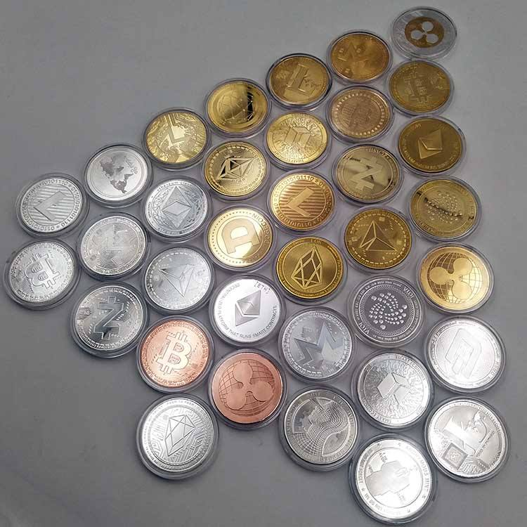 Wholesale custom souvenir BTC cryptocurrency copper silver gold metal bitcoin coin
