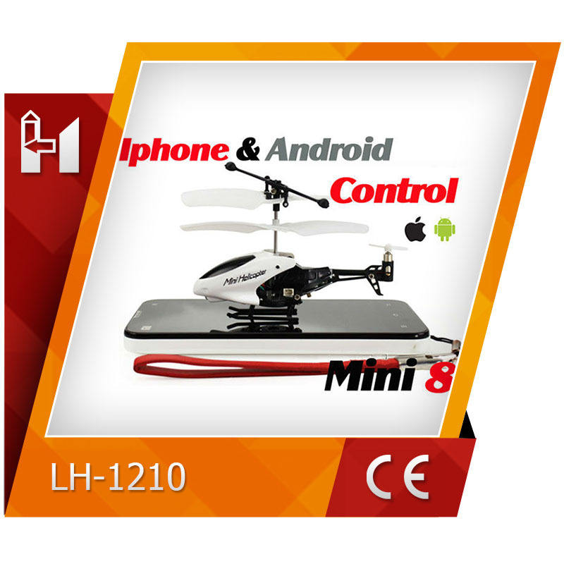 Easy to operated Iphone& Android control mini helicopter with gyro 3.5CH LH1210 flying toy