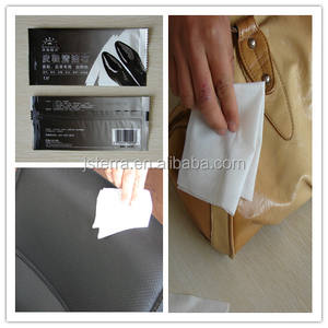 welcome OEM super convenient Single Wrapped Car /shoe Leather Wipes non-woenv spunlace