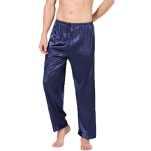 High Quality Men's Summer Soft Sleep Pants Silk Satin long Pajama Pants Lounge Pants