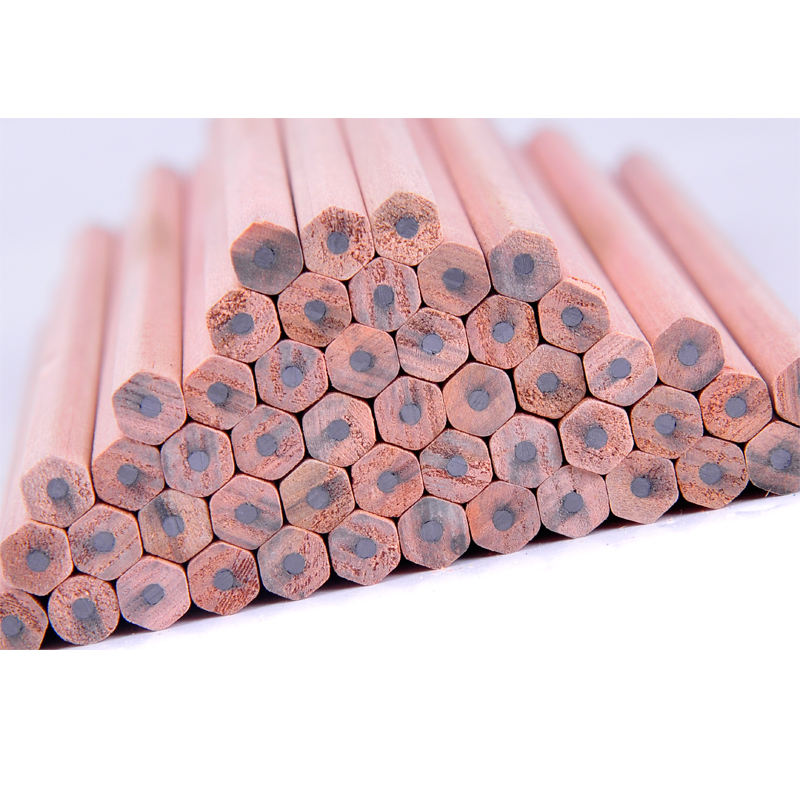 HB Hexagonal wooden pencil without eraser unsharpened
