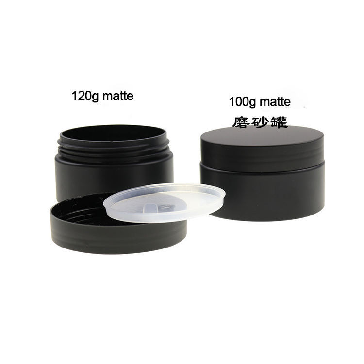 high quality 30g 50g 80g 100g 120g 150g 250g 8 oz 250ml 30ml 50ml 80ml 100ml empty pet black plastic jar for tooth powder