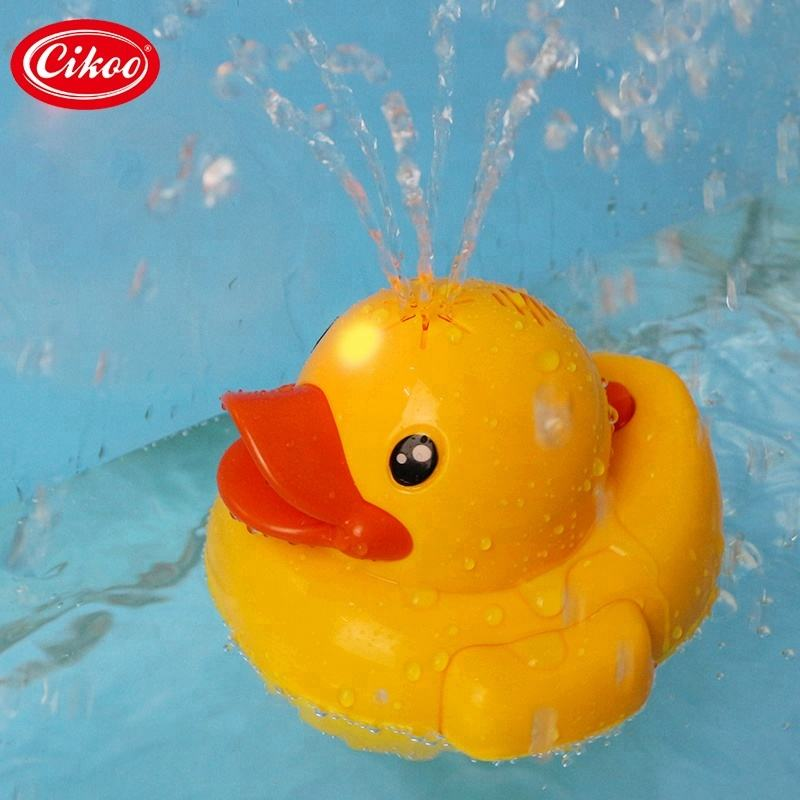 lights and sound plastic duck bath toys for baby shower games shantou manufacture for sale
