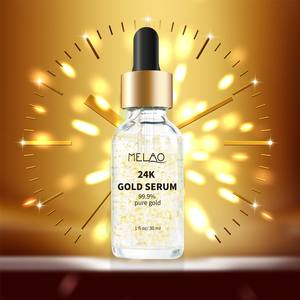 Anti age gold serum 24k private label moisturizing 30ml vitamin antiaging korean hyaluronic acid whitening face 24k