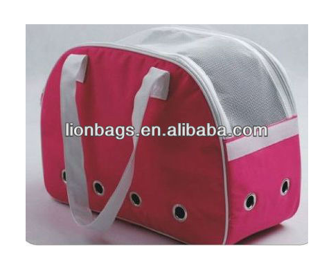 (LNPG15) eco-frienly roze pet carrier bag