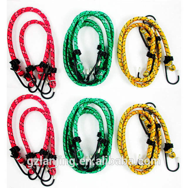 Factory offer bungee cord rope with hook customized packing
