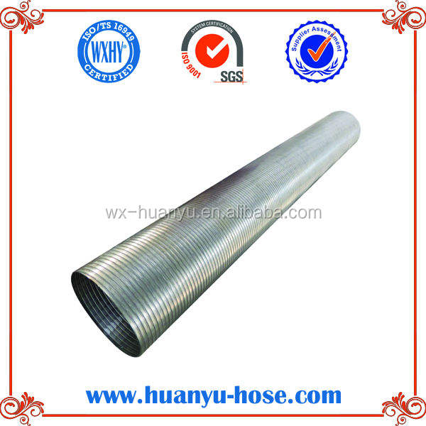 Flexible stainless truck exhaust
